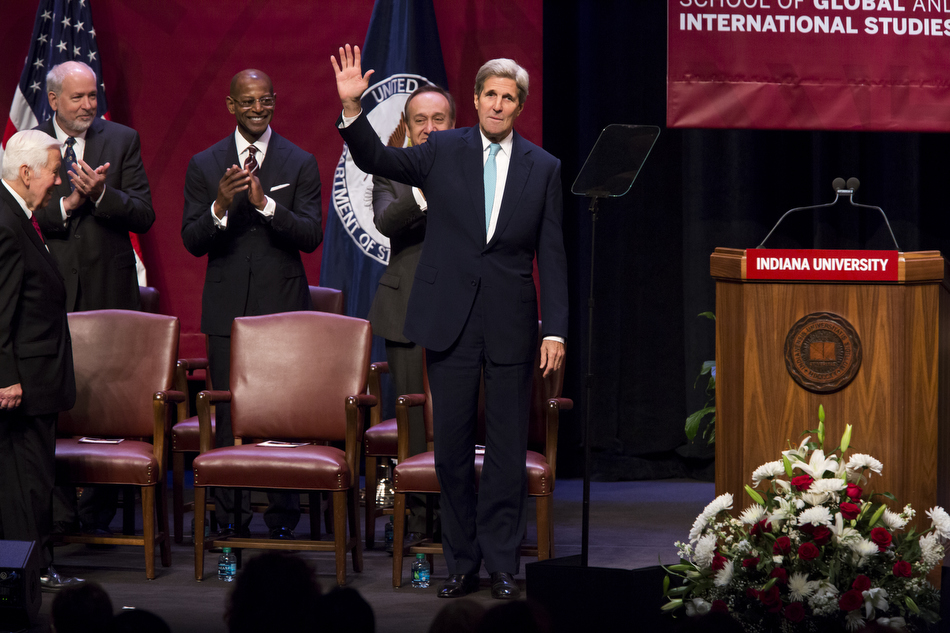U.S. Secretary of State John Kerry Visits Indiana University