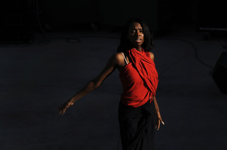 Yuri Kelly performs a dance at the Round Rock Juneteenth Festival on Friday, June 18, 2010. Friday night performances and a talent show were a prelude to Saturday's parade and festival.