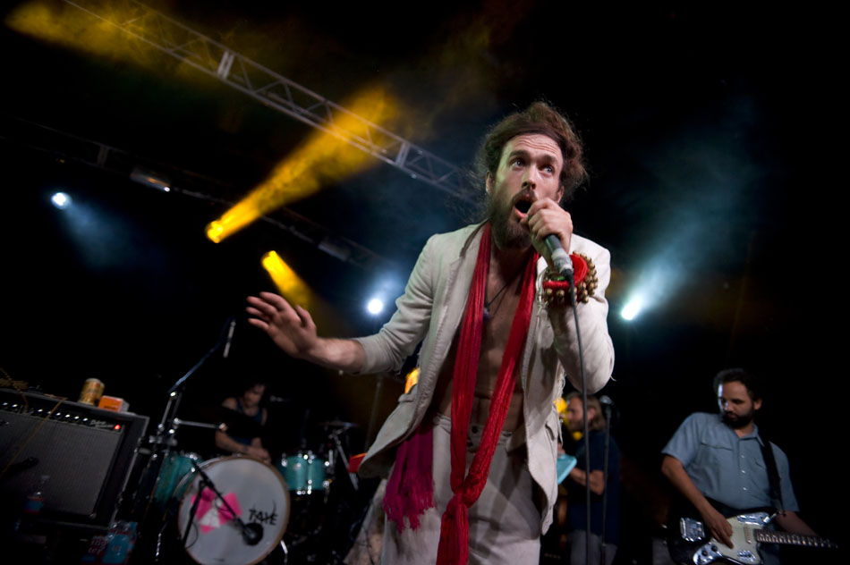 Alex Ebert, lead singer of Edward Sharpe and the Magnetic Zeros,  performs with his band at La Zona Rosa on Tuesday, July 6, 2010. Tuesday night's show was a sell out.
