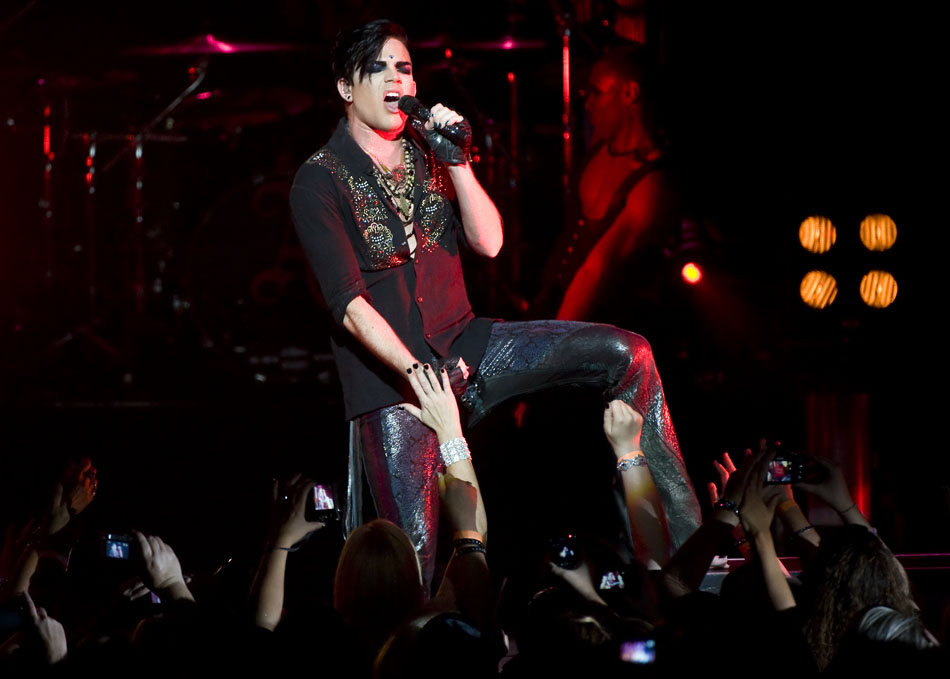 Adam Lambert performs for a packed house on Sunday, Sept. 5, 2010, at the Peoria Civic Center.