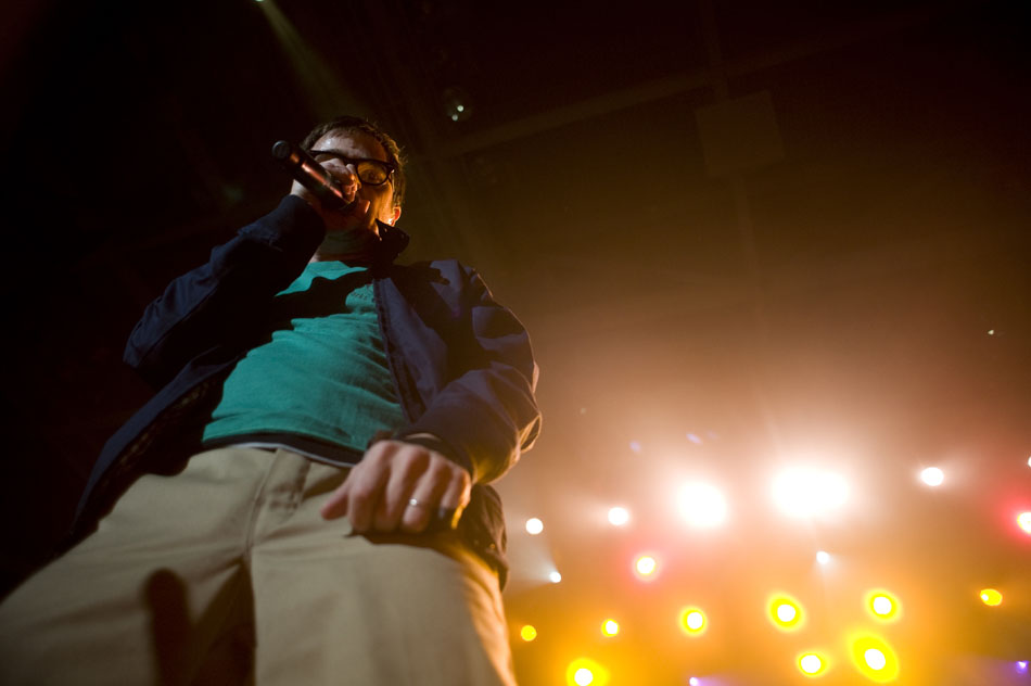 Weezer's Rivers Cuomo performs on Saturday, Sept. 25, 2010, at Bradley University.