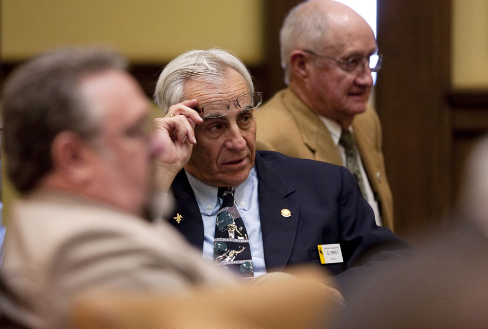 Sen. Eli Bebout, R-Riverton, listens during the last day of the 61st Legislature's session on Thursday, March 3, 2011, at the Wyoming State Capitol in Cheyenne.