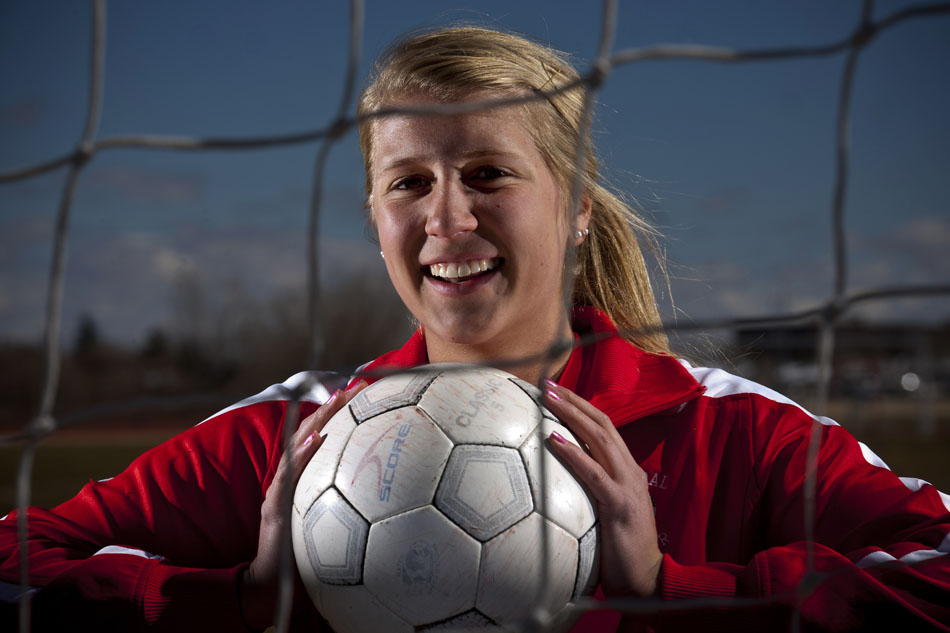Cheyenne Central soccer player Christie Schiel poses for a portrait on Tuesday, March 29, 2011, at Cheyenne Central High School. Schiel is the WyoSports Cheyenne staff's prep athlete of the week.