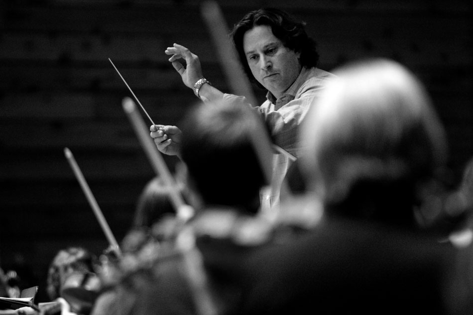 William Intriligator, music director and conductor of the Cheyenne Symphony Orchestra, leads the orchestra in a rehearsal on Thursday, Nov. 3, 2011, at the Cheyenne Civic Center.