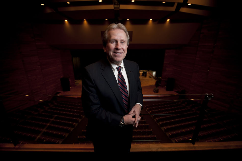 Dru Rohla, executive director at the Cheyenne Civic Center, poses for a portrait on Friday, Jan. 20, 2012, in the theater's balcony. After years in the red, the 1,500-seat venue recorded a $48,000 profit, thanks to a $264,400 subsidy from the city's general fund. (James Brosher/Wyoming Tribune Eagle)