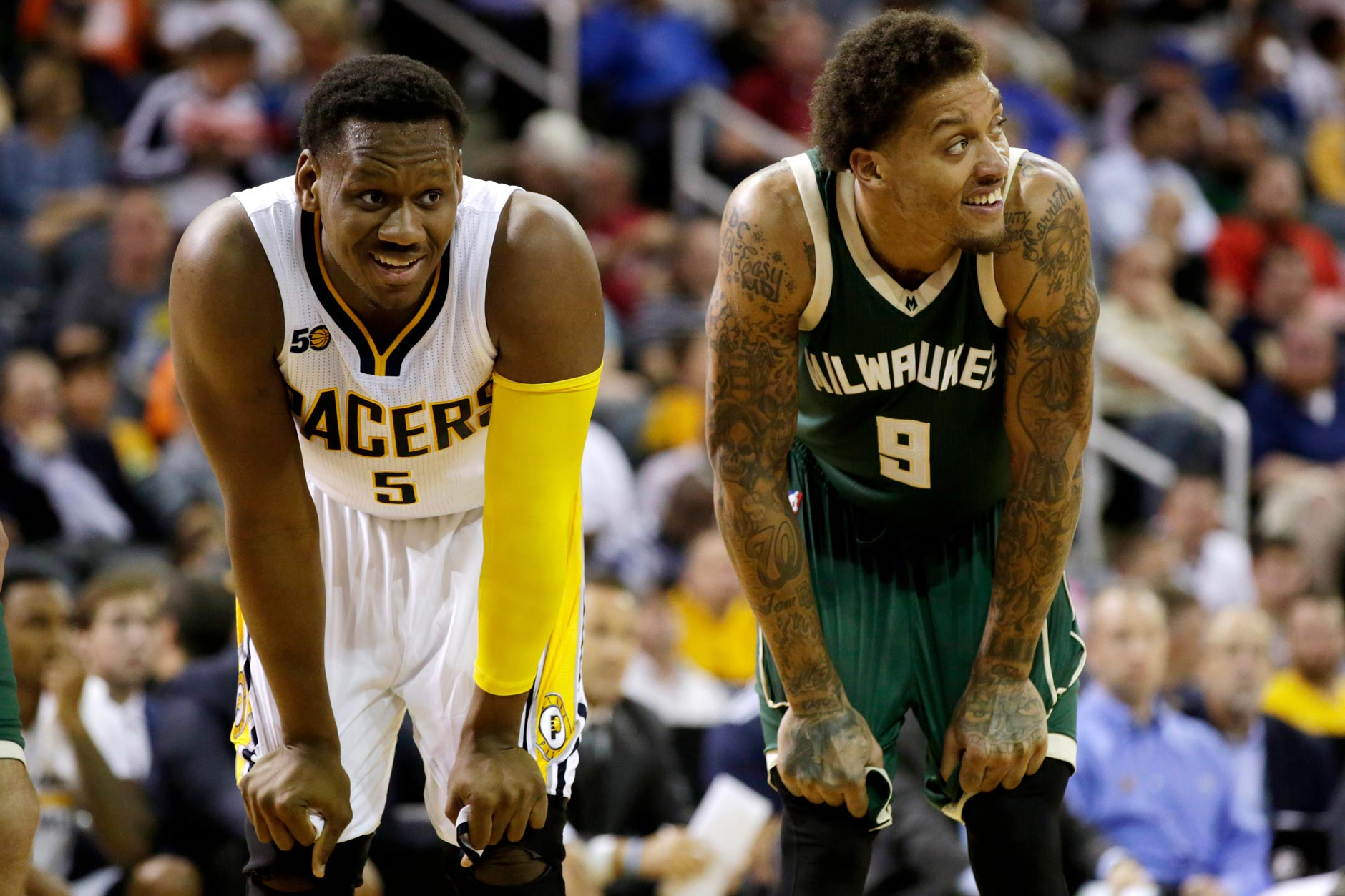NBA: Preseason-Milwaukee Bucks at Indiana Pacers