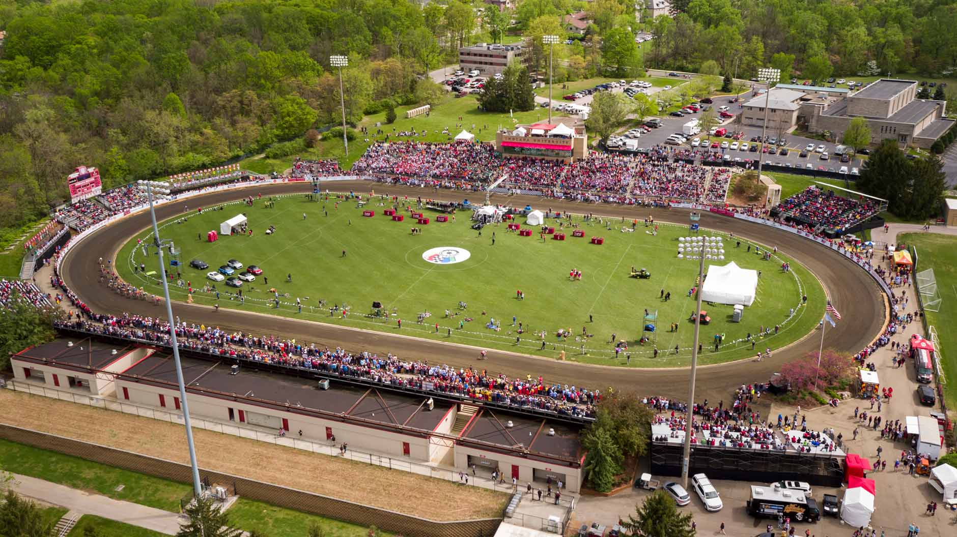 Riders compete in the 67th running of the Men's Little 500 at Bill Armstrong Stadium on Saturday, April 22, 2017. (Eric Rudd and James Brosher/IU Communications)