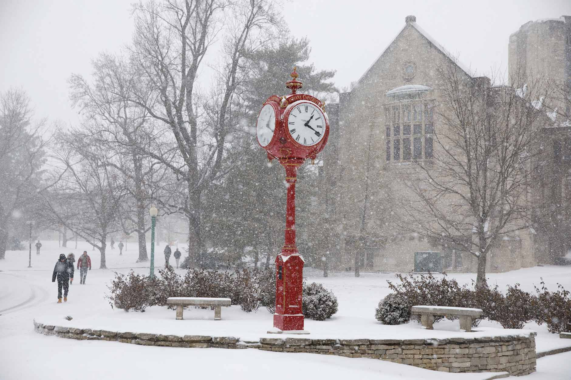 Indiana University Bloomington Winter Campus Scenics