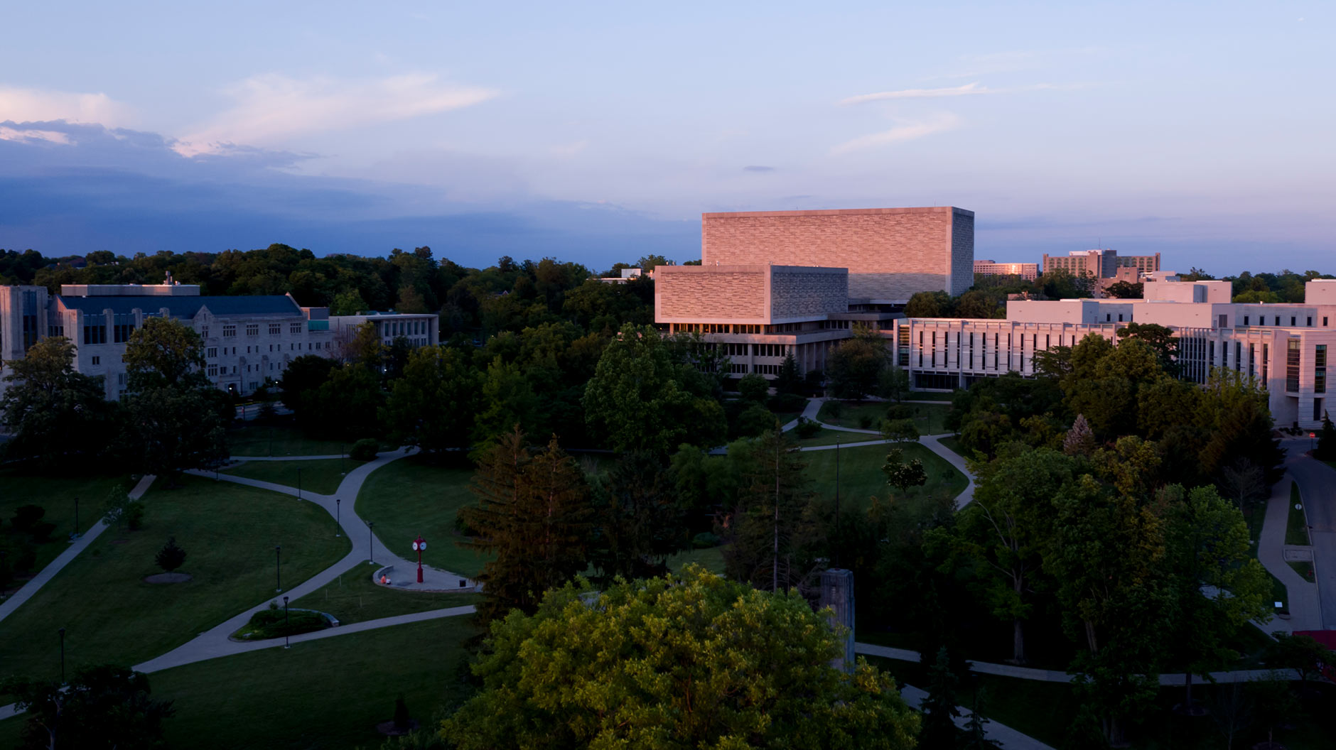Indiana University Bloomington Summer Campus Scenics