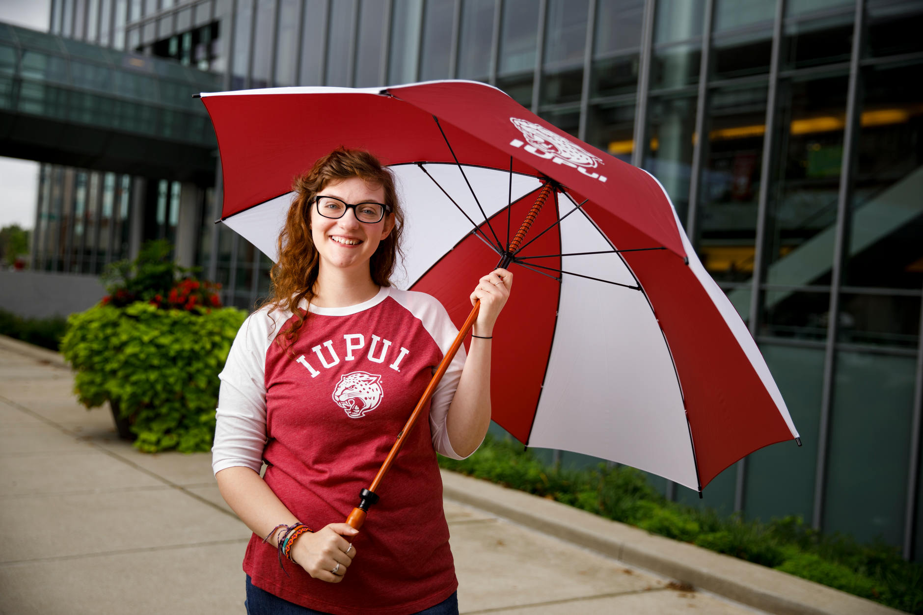 IUPUI student Miranda Williams poses for a portrait during a IUPUI apparel fashion photo shoot at the Campus Center on Wednesday, Aug. 8, 2018.