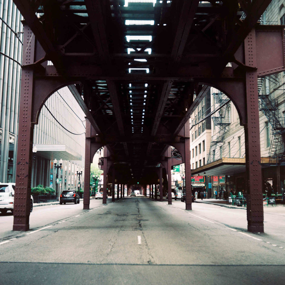 "A street below Chicago's ""L"" is pictured on Sunday, July 1, 2018. (Photo by James Brosher)"