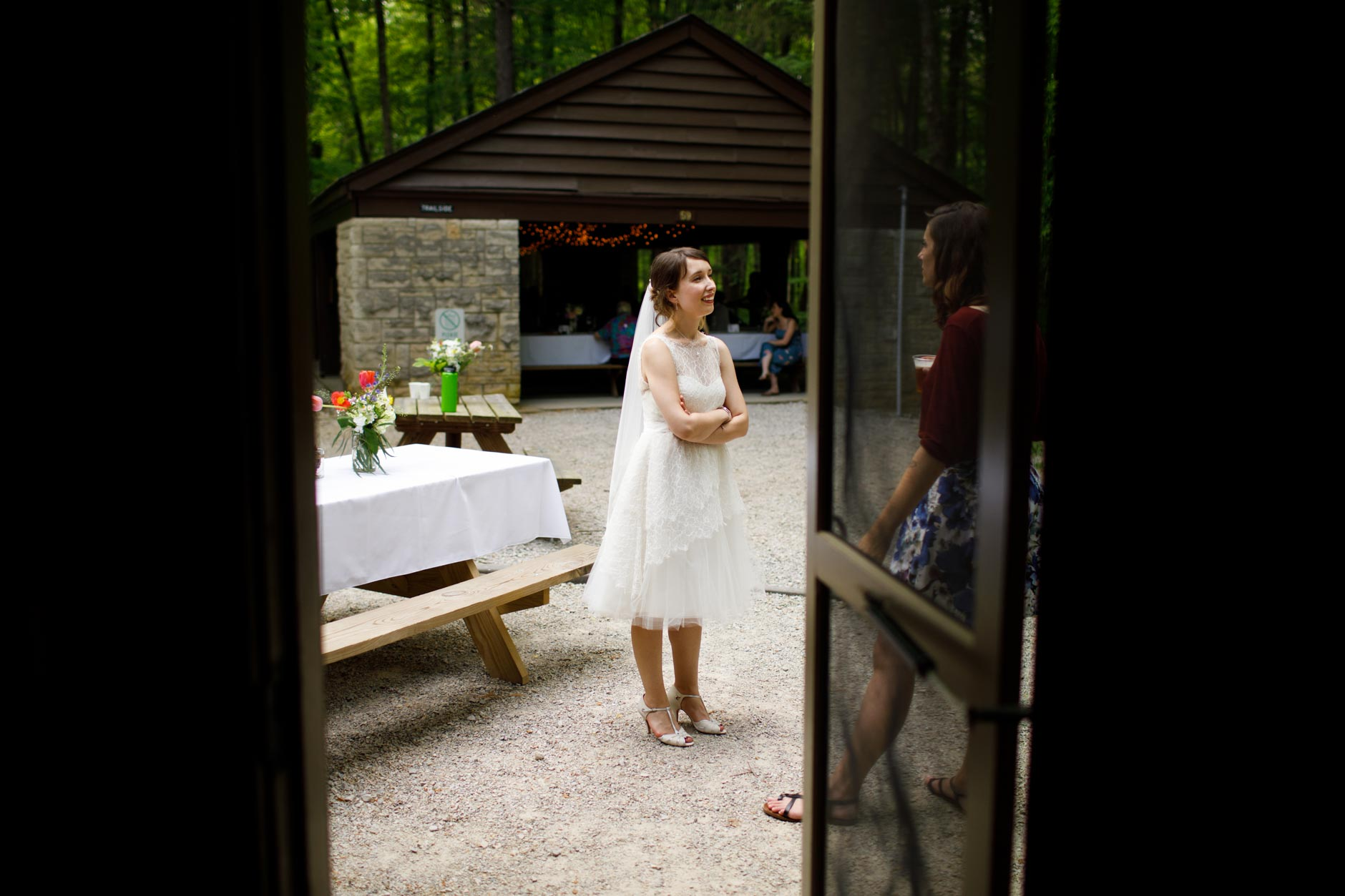 Scenes from the wedding of Joe Toth and Kirstin Wade at McCormick's Creek State Park near Spencer, Indiana on Saturday, May 12, 2018. (Photo by James Brosher)