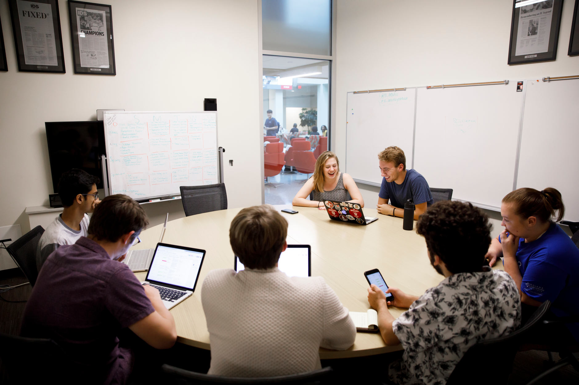 Indiana Daily Student newsroom at The Media School at Indiana University in Franklin Hall on Monday, Oct. 1, 2018.