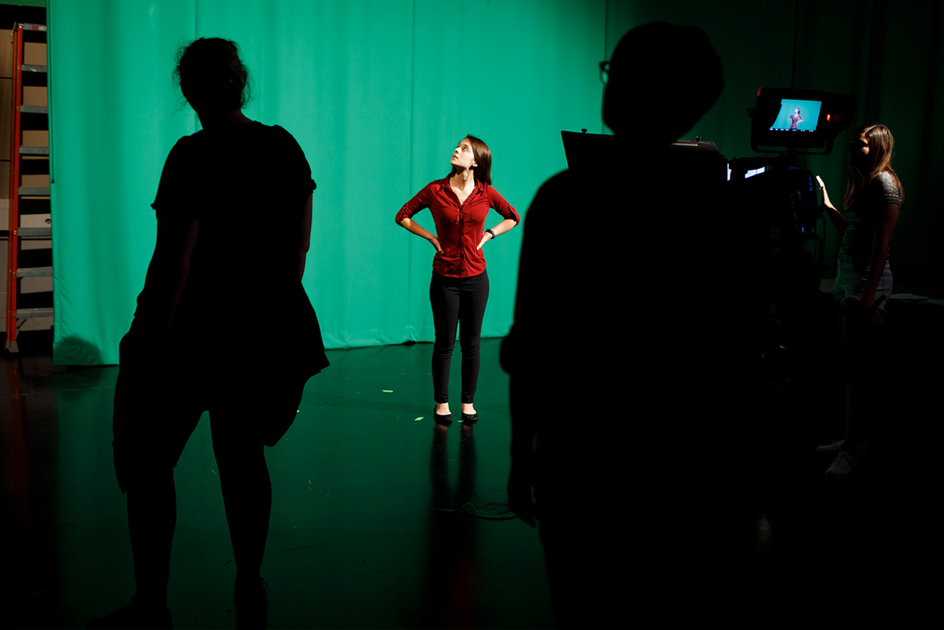 TV Studio Production class at the The Media School at Indiana University in the Radio and TV Building on Monday, Oct. 1, 2018.