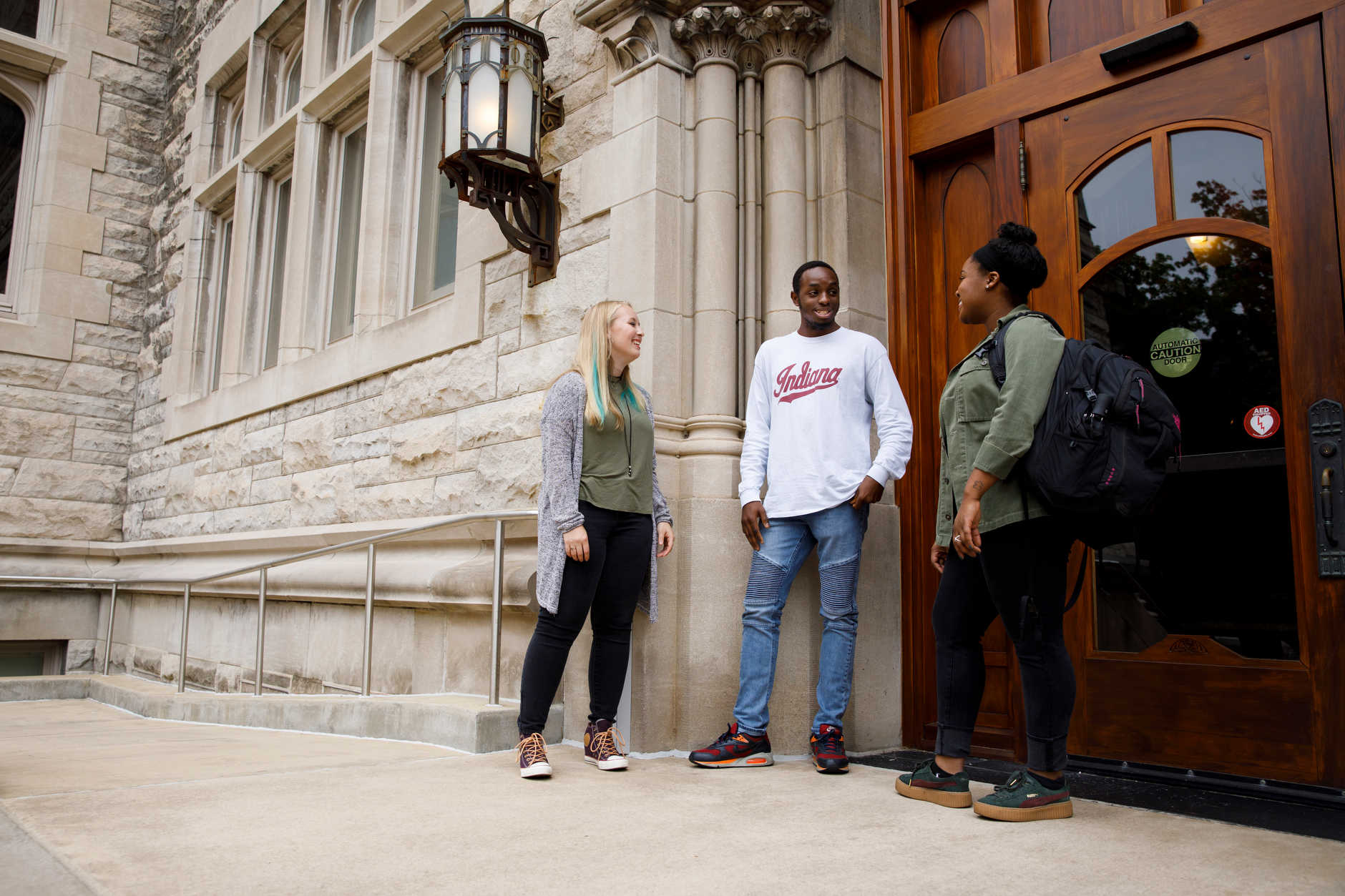 Photo shoot outside Franklin Hall at The Media School at Indiana University on Thursday, Oct. 4, 2018.