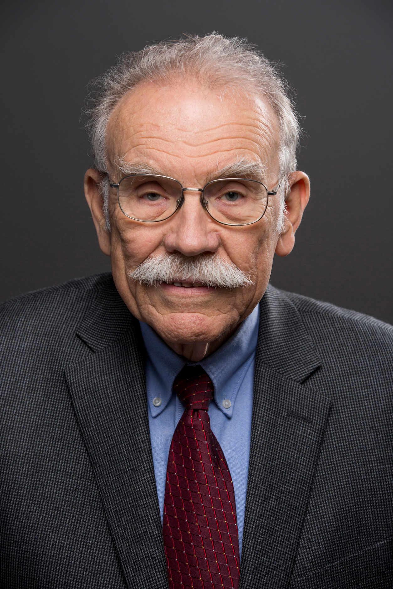 Indiana University Chancellor's Professor Emeritus John Mikesell – Bloomington, Indiana – Feb. 11, 2016. (Photo by James Brosher)