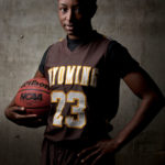 Wyoming basketball player Chelan Landry – Laramie, Wyoming – Oct. 19, 2011. (Photo by James Brosher)