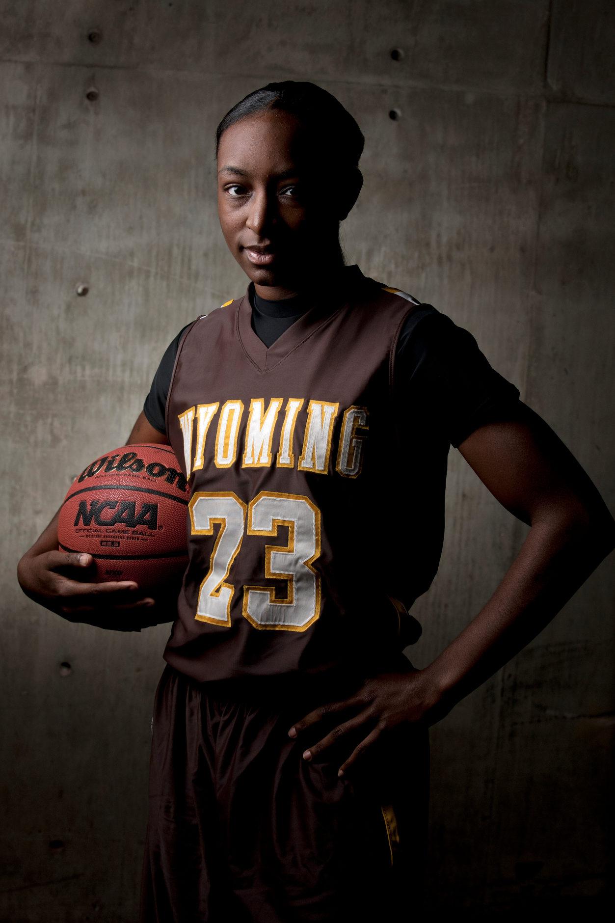 Wyoming basketball player Chelan Landry – Laramie, Wyoming – Oct. 19, 2011. (Photo by James Brosher)