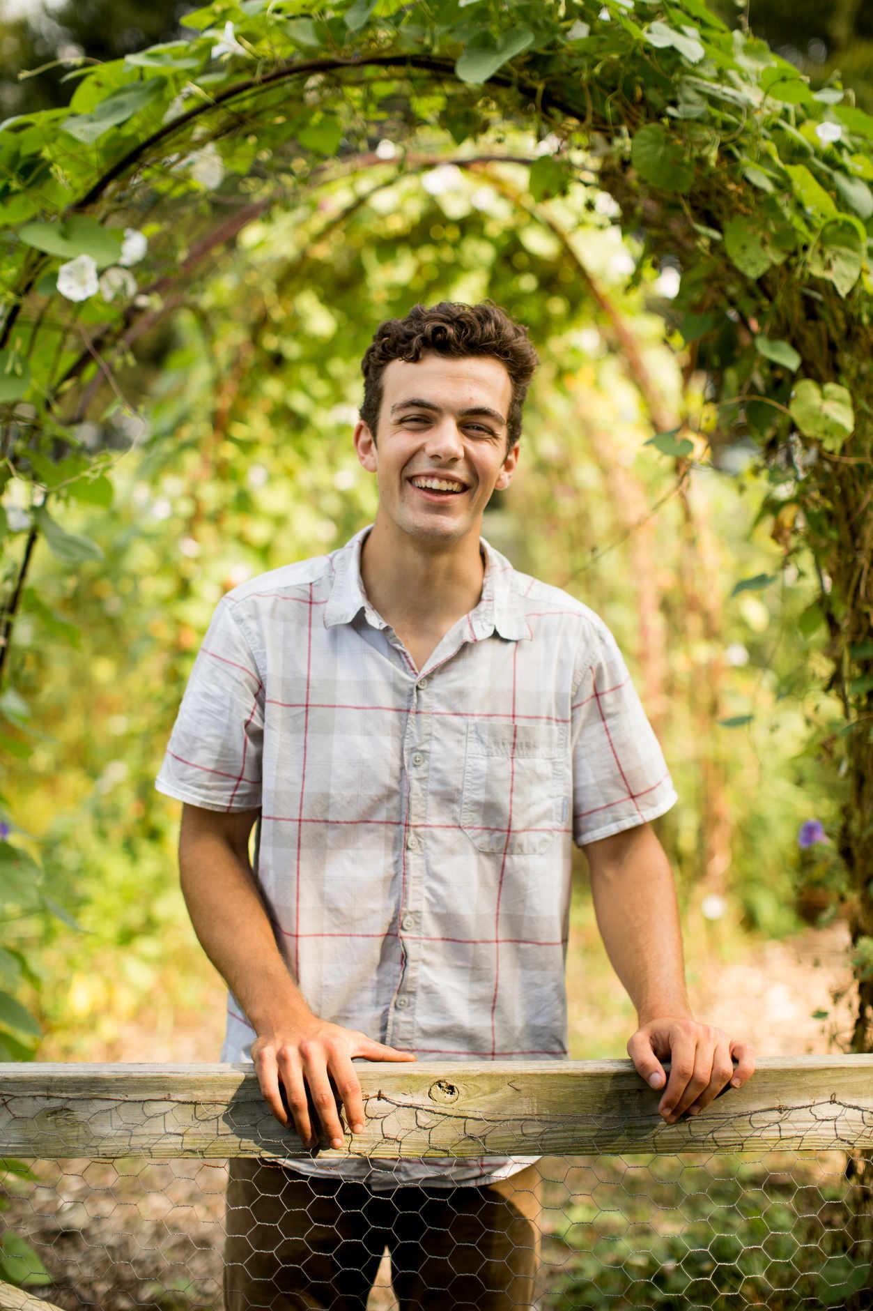 Indiana University student Corben Andrews – Bloomington, Indiana – Sept. 14, 2016. (Photo by James Brosher)