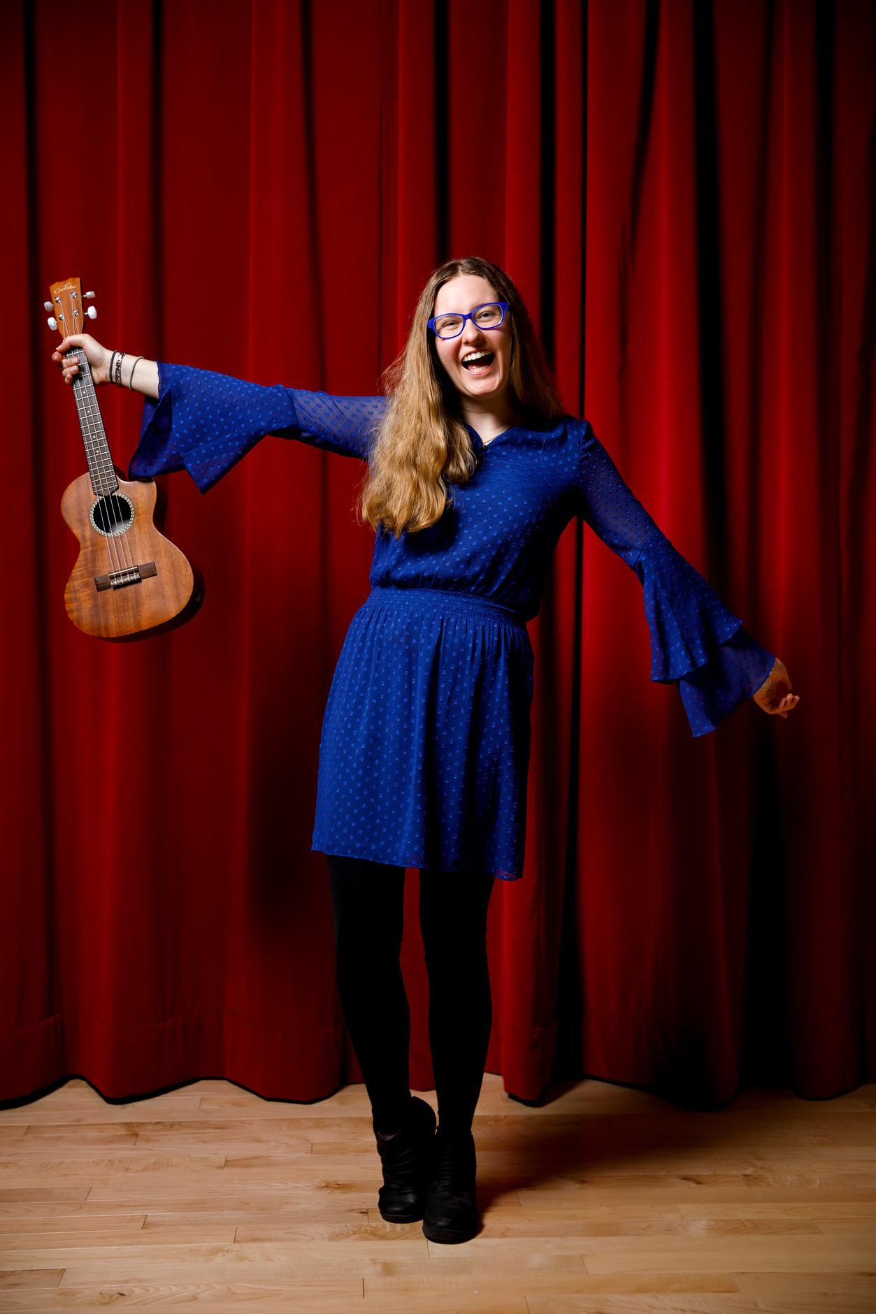 Indiana University student musician Grace Minnick – Bloomington, Indiana – April 19, 2018. (Photo by James Brosher)