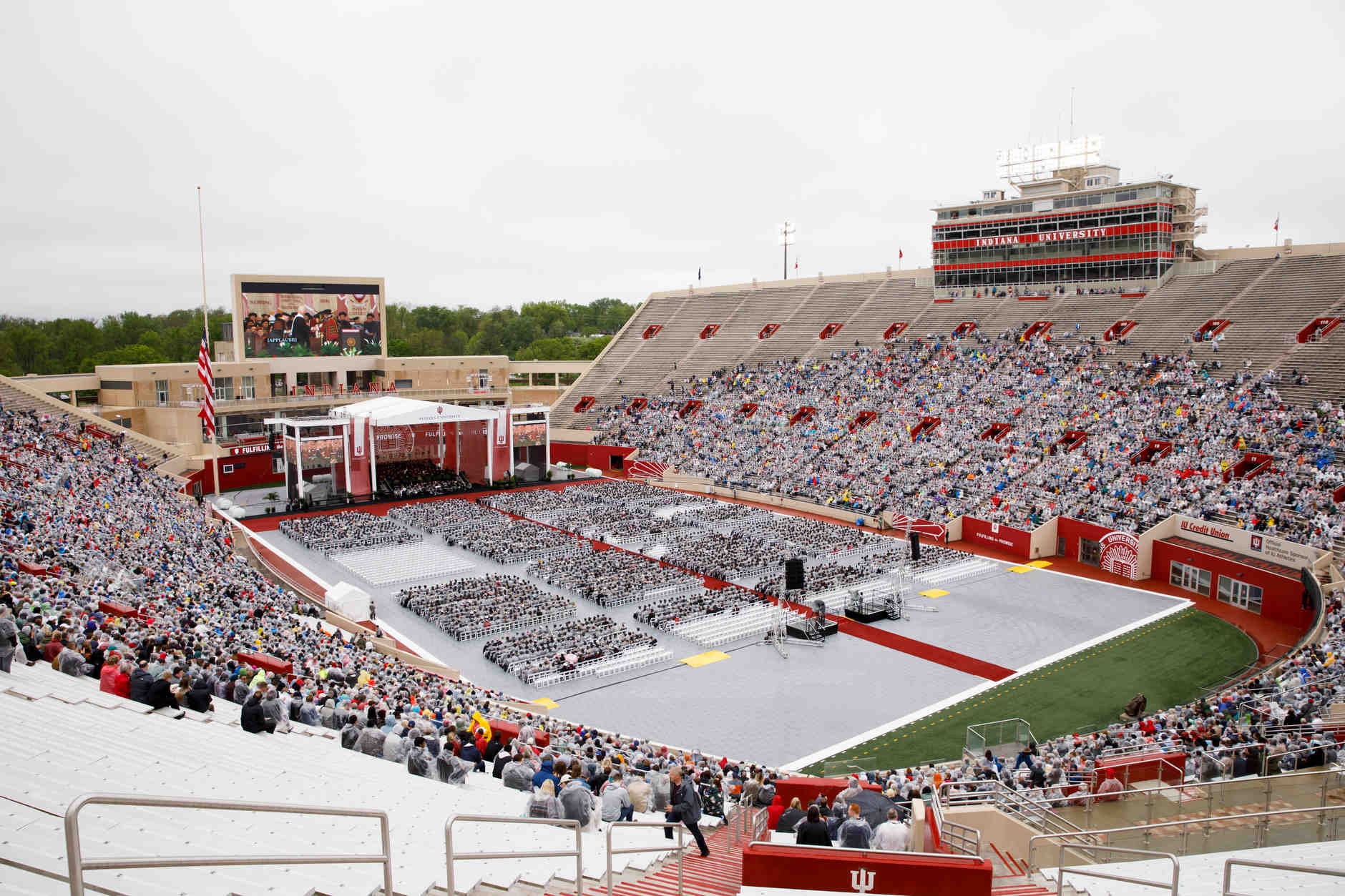 The 199th Indiana University Bloomington Undergraduate Commencement is pictured at Memorial Stadium on Saturday, May 4, 2019. (James Brosher/Indiana University)