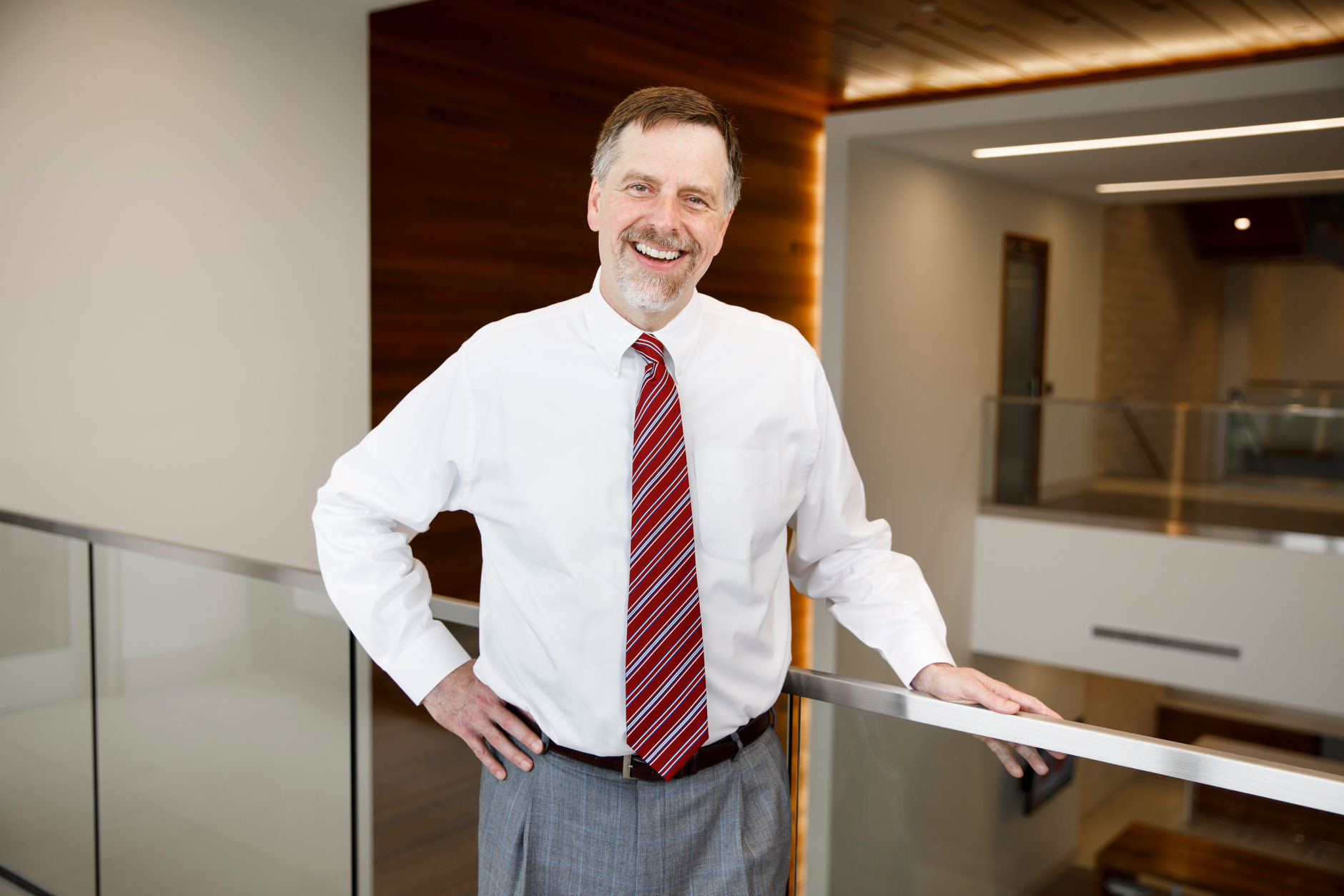 Bob Auer, senior portfolio manager for SBAuer Funds LLC, poses for a portrait at his office in Indianapolis on Thursday, June 27, 2019. (James Brosher for The Wall Street Journal)
