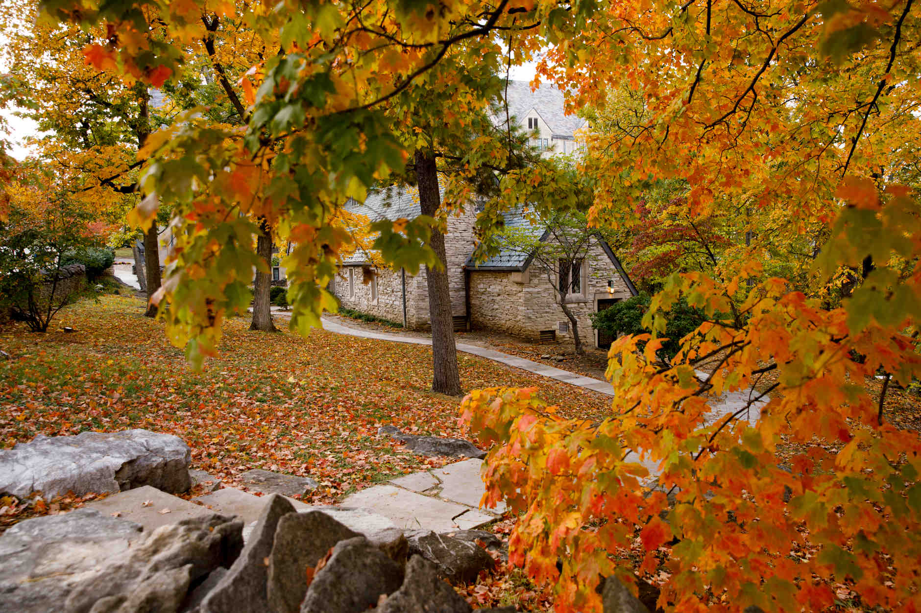 Beck Chapel is pictured on a fall day at IU Bloomington on Tuesday, Oct. 22, 2019. (James Brosher/Indiana University)