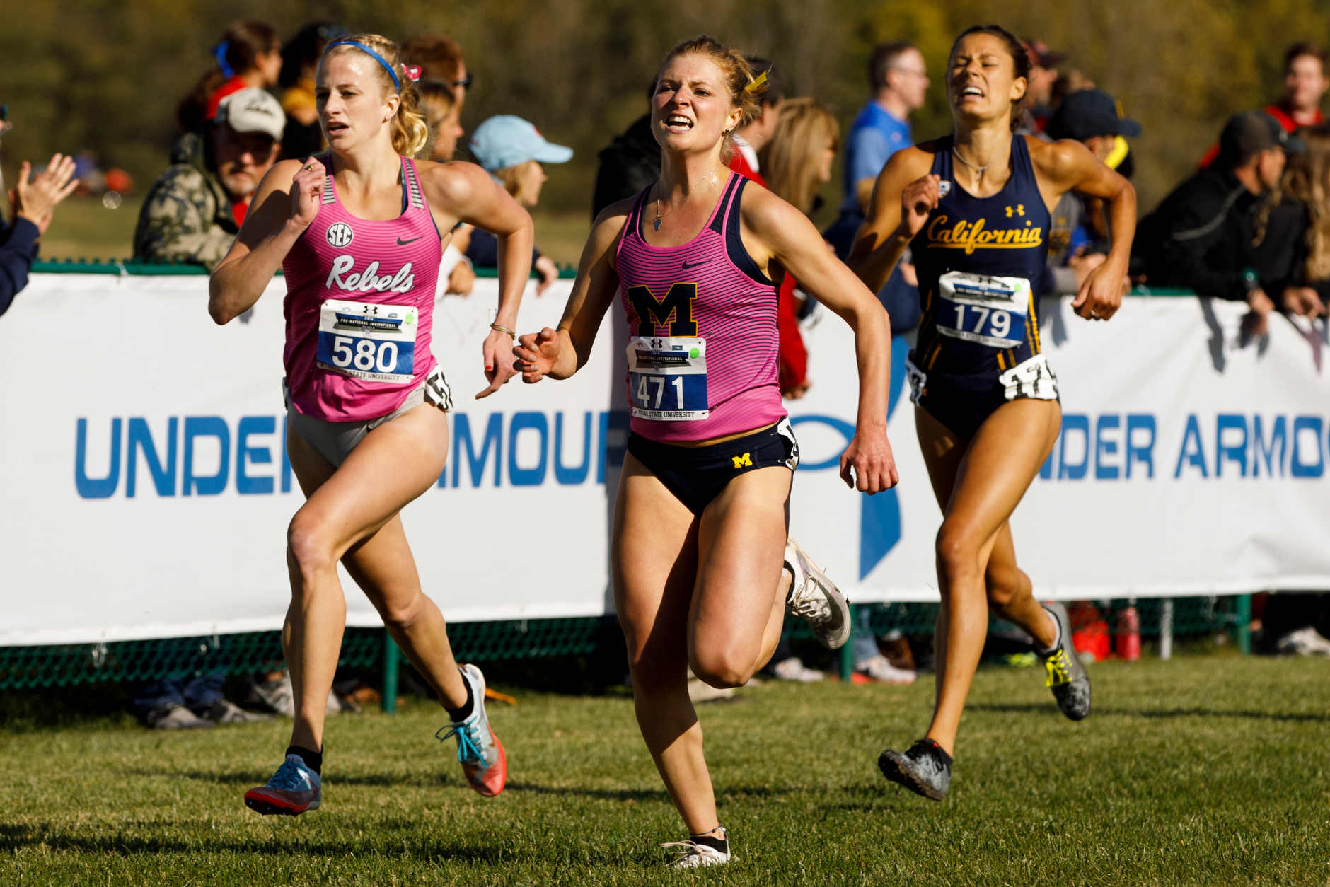 Michigan's Maddy Trevisan (471) competes during the Indiana State Pre-National Cross Country Invitational in Terre Haute, Indiana on Saturday, Oct. 19, 2019. (Photo by James Brosher)