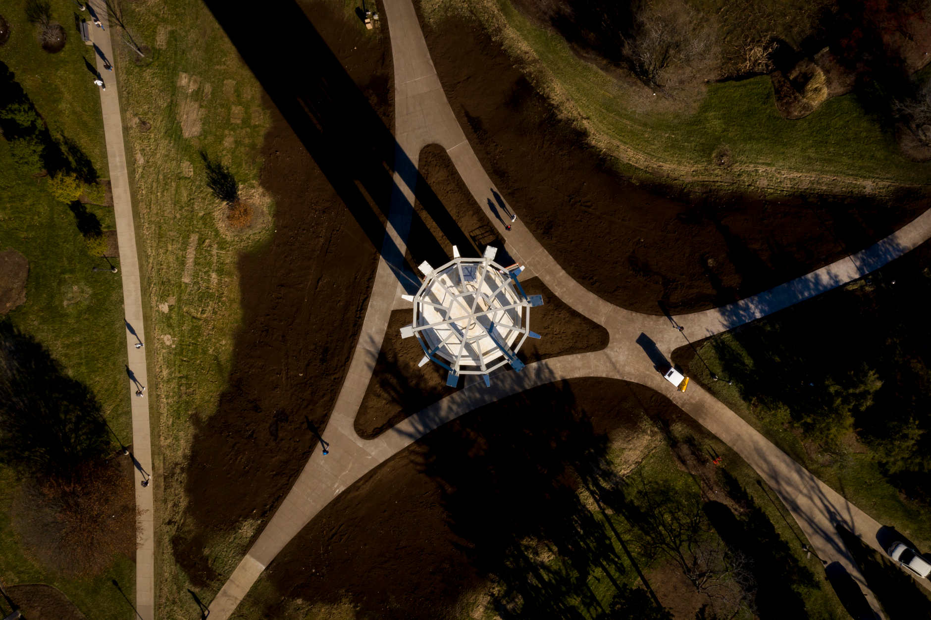 The Metz Bicentennial Grand Carillon stands in the Cox Arboretum at IU Bloomington on Thursday, Jan. 16, 2020. (James Brosher/Indiana University)