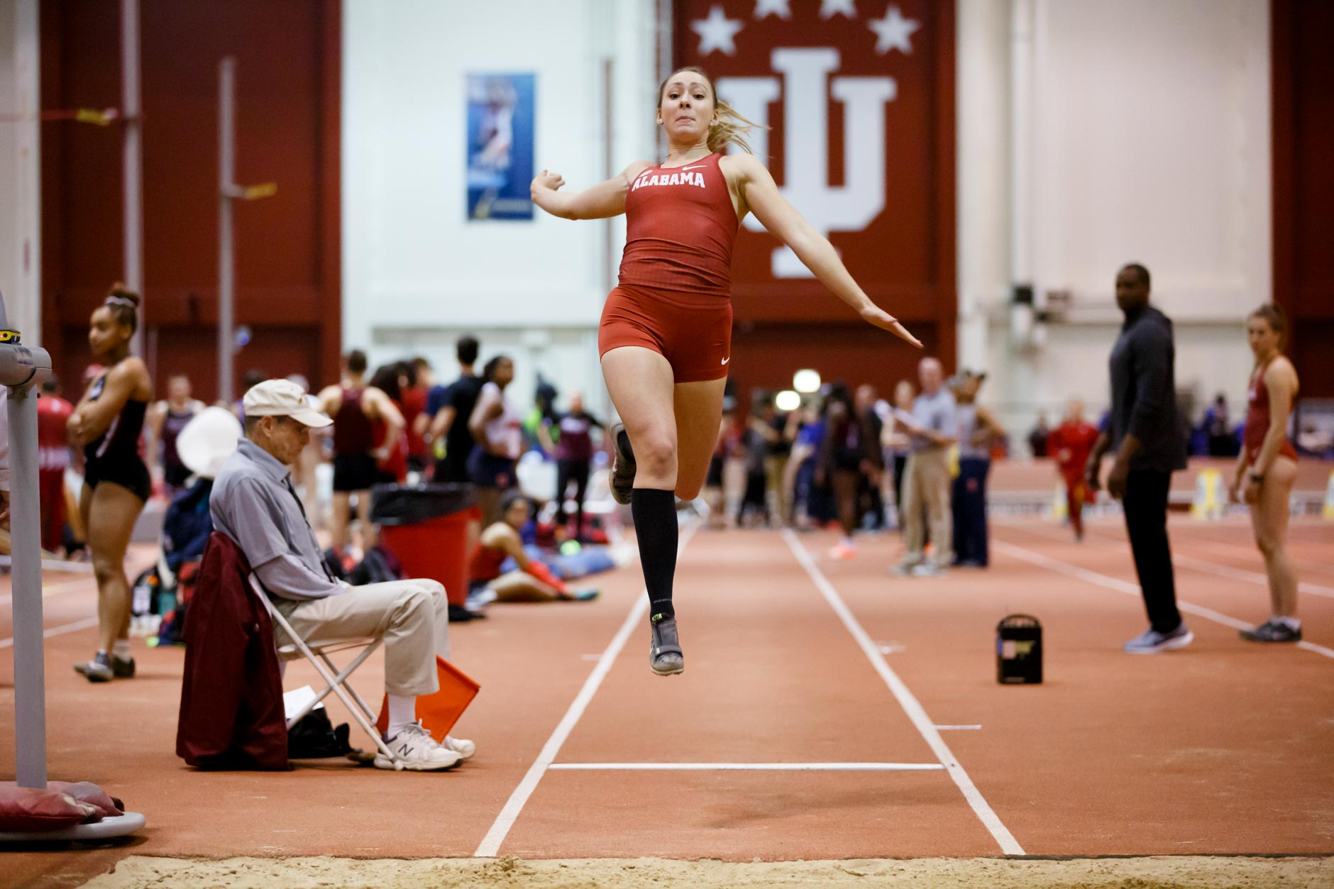 Alabama's Camille Kohtala competes in the long jump during the Indiana University Relays in Bloomington, Indiana on Friday, Jan. 31, 2020. (Photo by James Brosher)